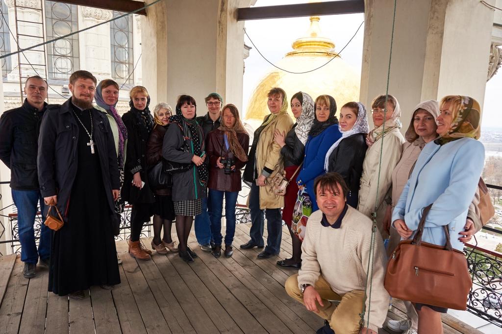 Сотрудники музея в Патриаршем Вознесенском соборе