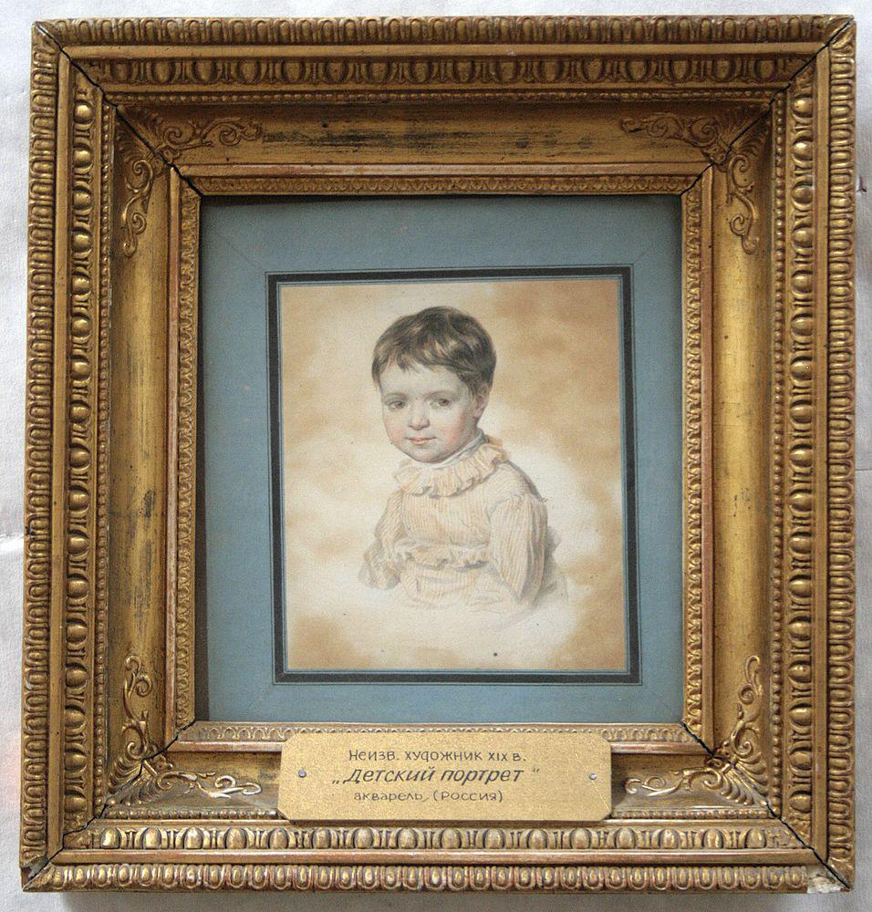 Портрет Марии Петровны Кикиной в детстве