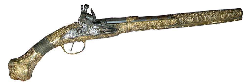 Пистолет кремниевый XVIII в.