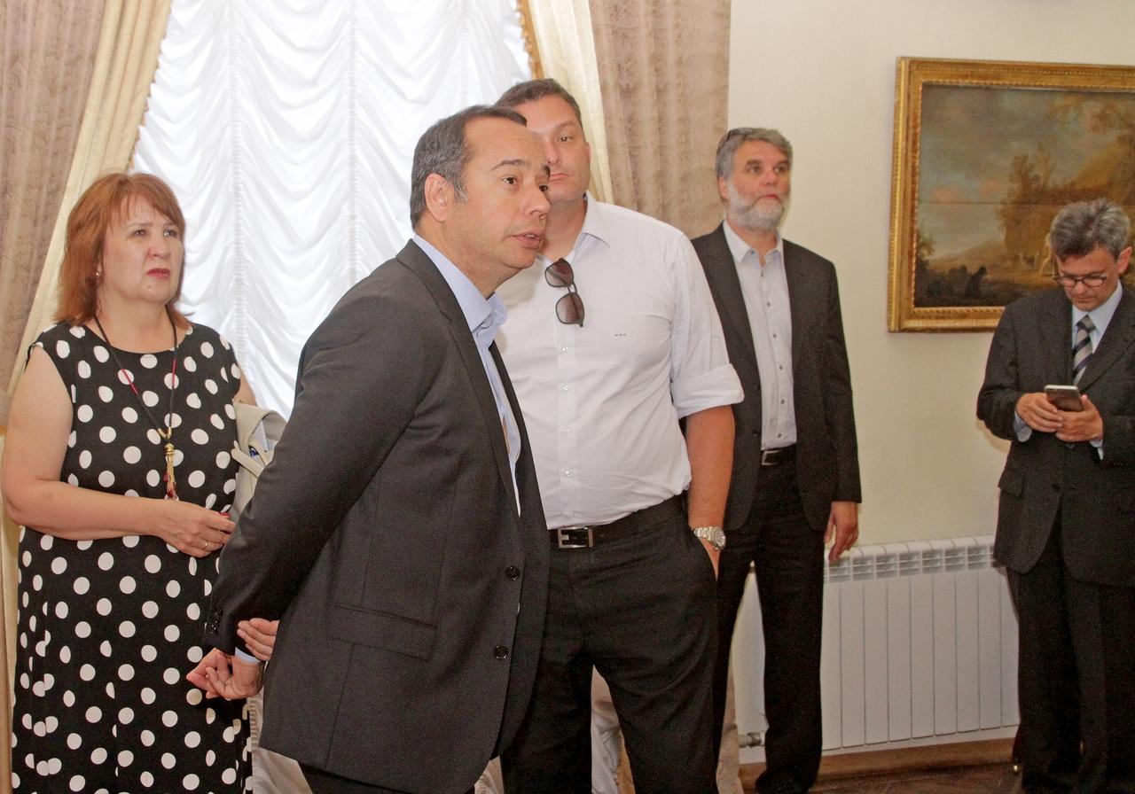 Министр спорта Бразилии в гостях у музея.