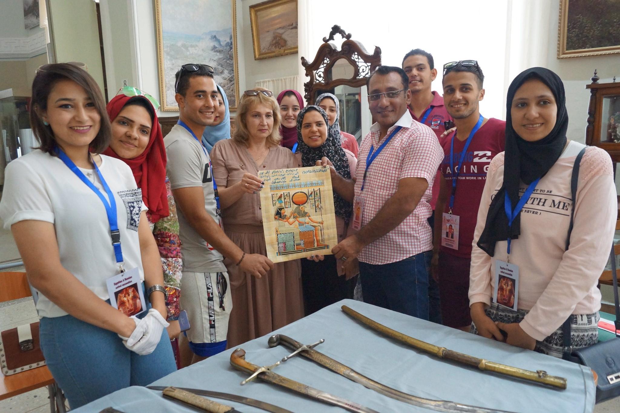 Студенты Археологического факультета Фаюмского университета (Египет) в гостях у музея
