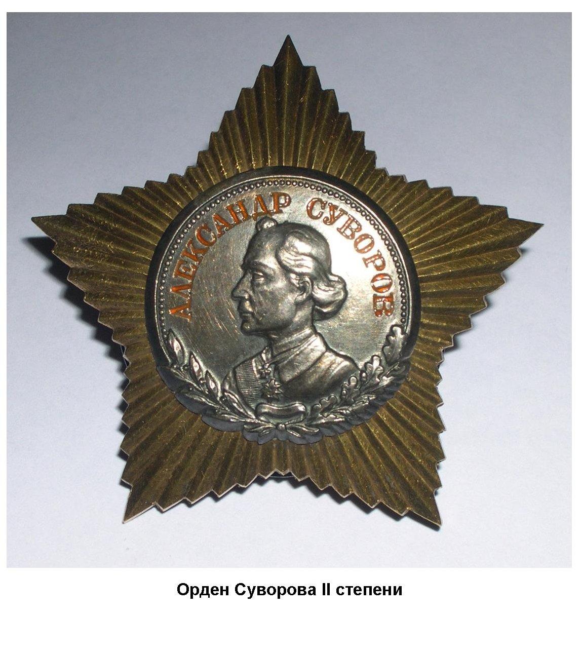 Награда, рожденная Великой Отечественной войной – орден Суворова